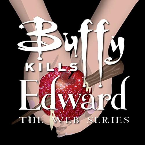 Logo Buffy Kills Edward : la pomme de Twilight est traversée par un pieu.