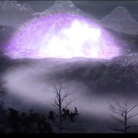 Le dôme créé qui retient l'antagoniste dans les Seigneurs d'Outre Monde.