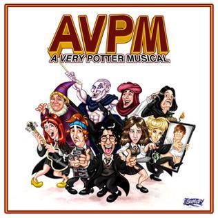 Poster de A Very Potter Musical : on y retrouve les personnages sous forme de caricature.