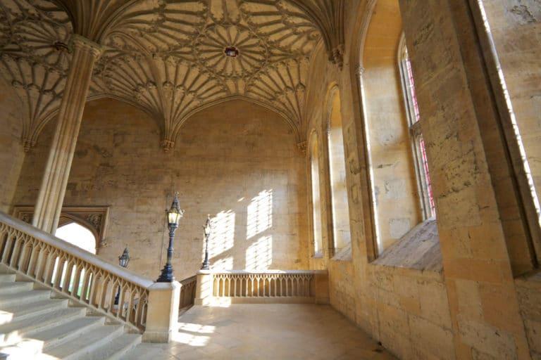 Les escaliers d'Oxford.