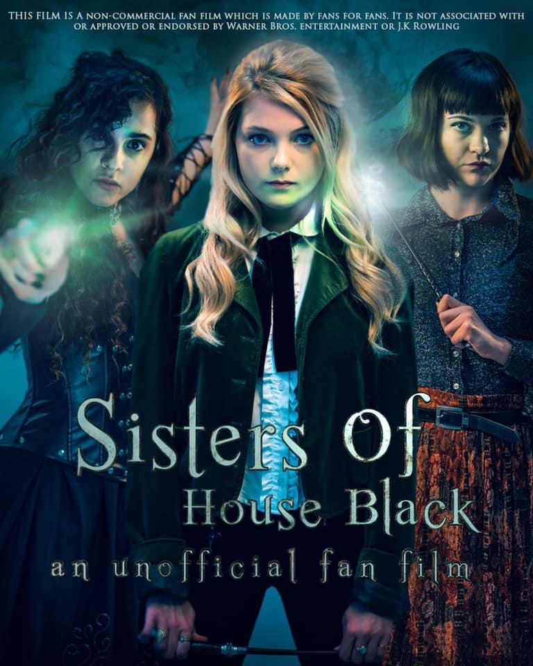 Poster du fanfilm Sisters of House Black sur lequel on retrouve Bellatrix, Narcissa et Andromeda.