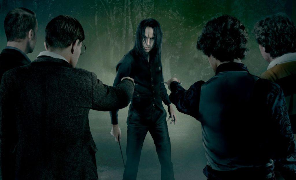 James, Sirius, Remus et Peter se préparent à attaquer Severus.