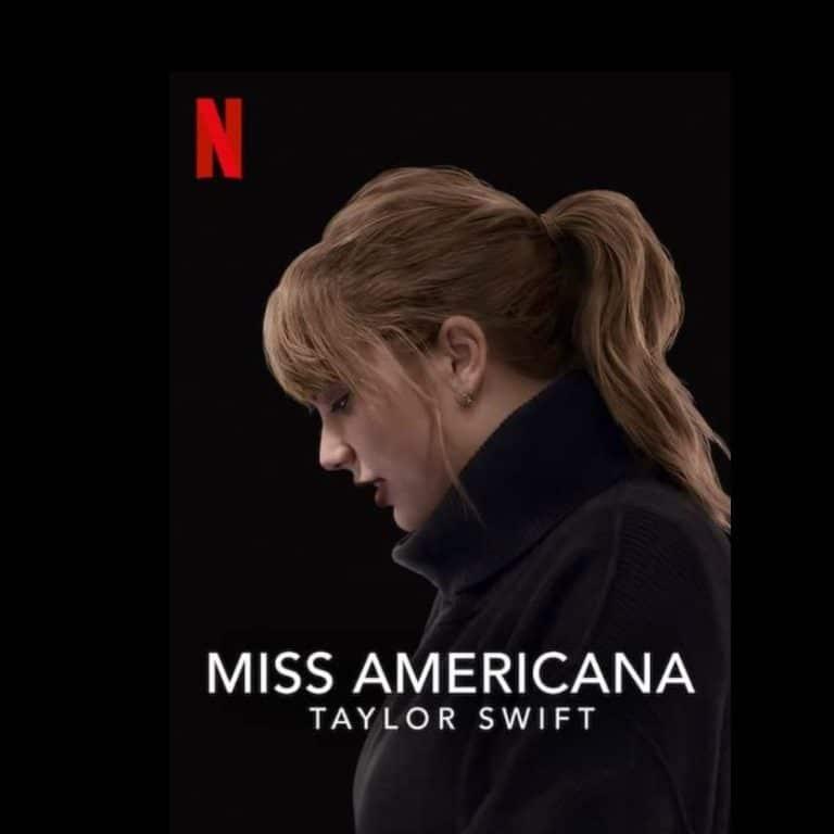 Affiche du documentaire Miss Americana sur Taylor Swift.