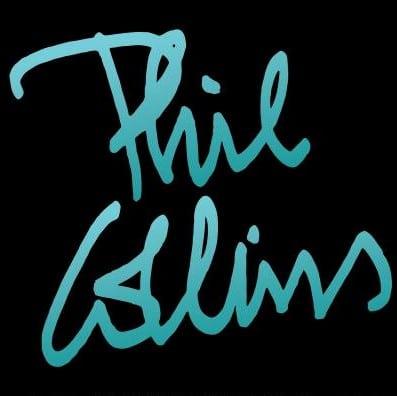 Le nom de Phil Collins stylisé.