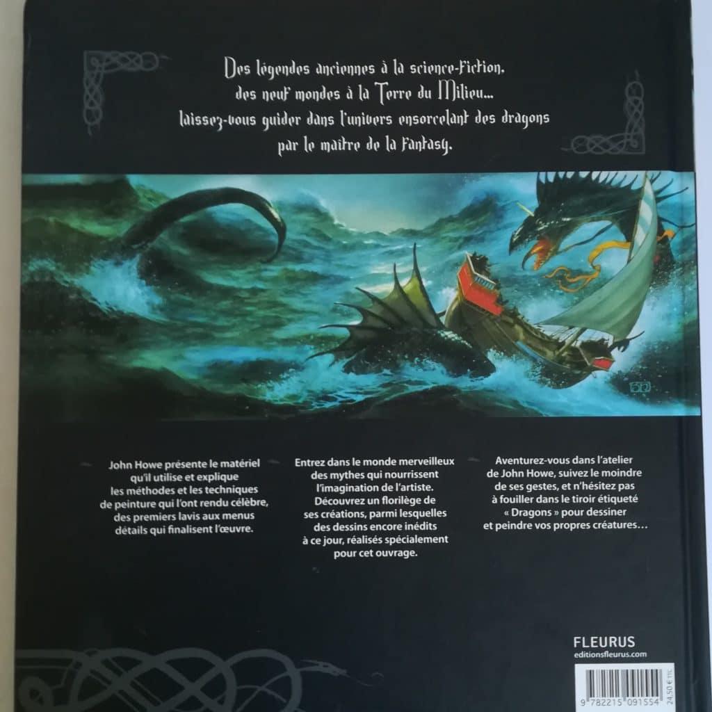 Quatrième de couverture du livre Dragons de John Howe
