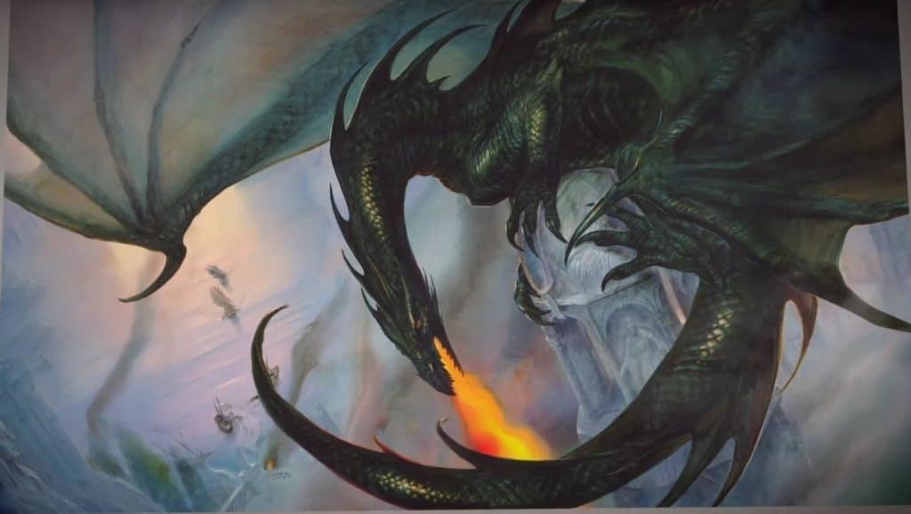 Dessin de John Howe d'un dragon