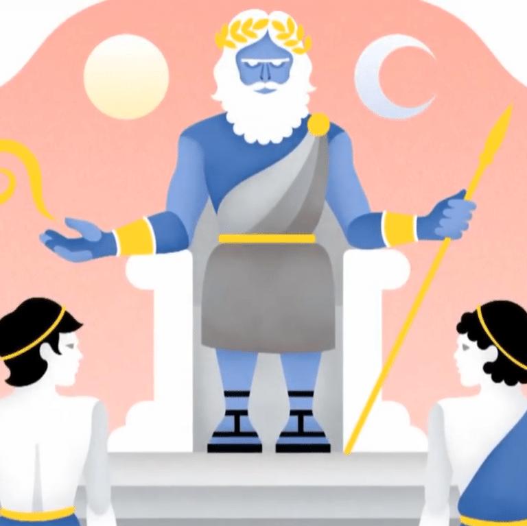 Zeus face à ses deux frères.